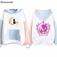 Anime Sailor Moon Hoodies Cosplay Costumes Hatsune Miku Totoro Autumn Winter Cashmere Warm Hoodie Sweater For Women Girl Clothes