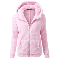 Women Jacket Tops Solid Girls Casual Turn Down Collar Jackets Zipper Standrd Full Length Sleeves Hooded