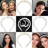 2019 Big Hair Perlen Elegante Stirnband Für Frauen Headwear Nette Haar Zubehör Haar Clips Haar Accessoires gumki tun wlosow