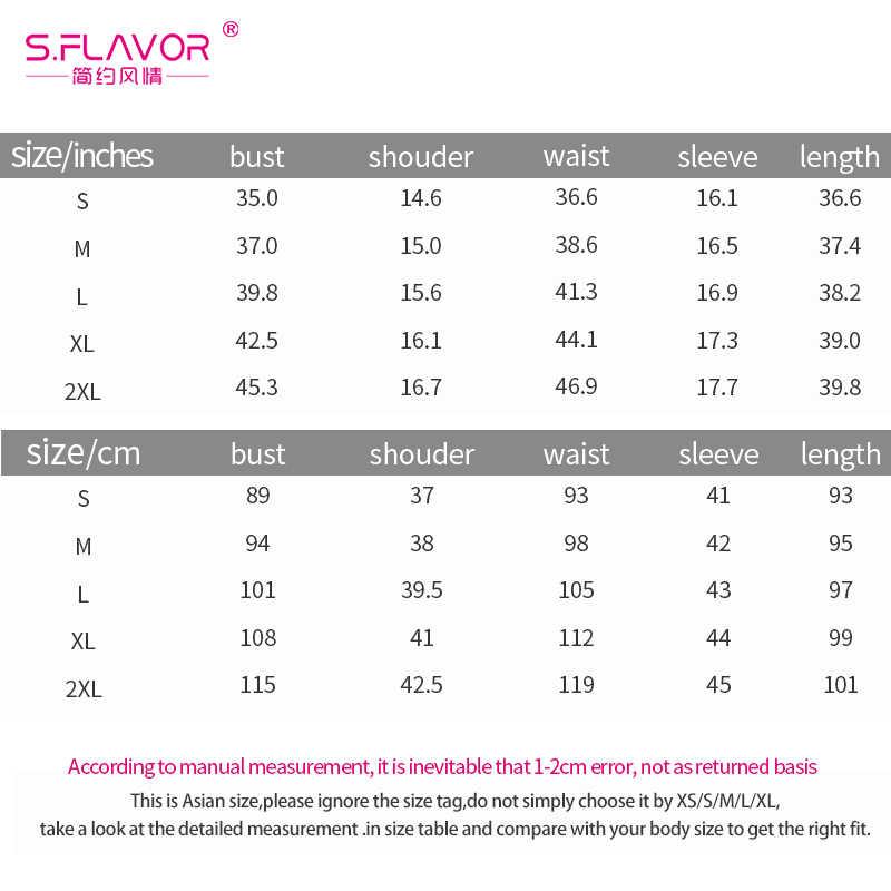 S. FLAVOR женское свободное короткое платье осень зима 3/4 рукав o-образным вырезом лоскутное мини платье плюс размер женское платье
