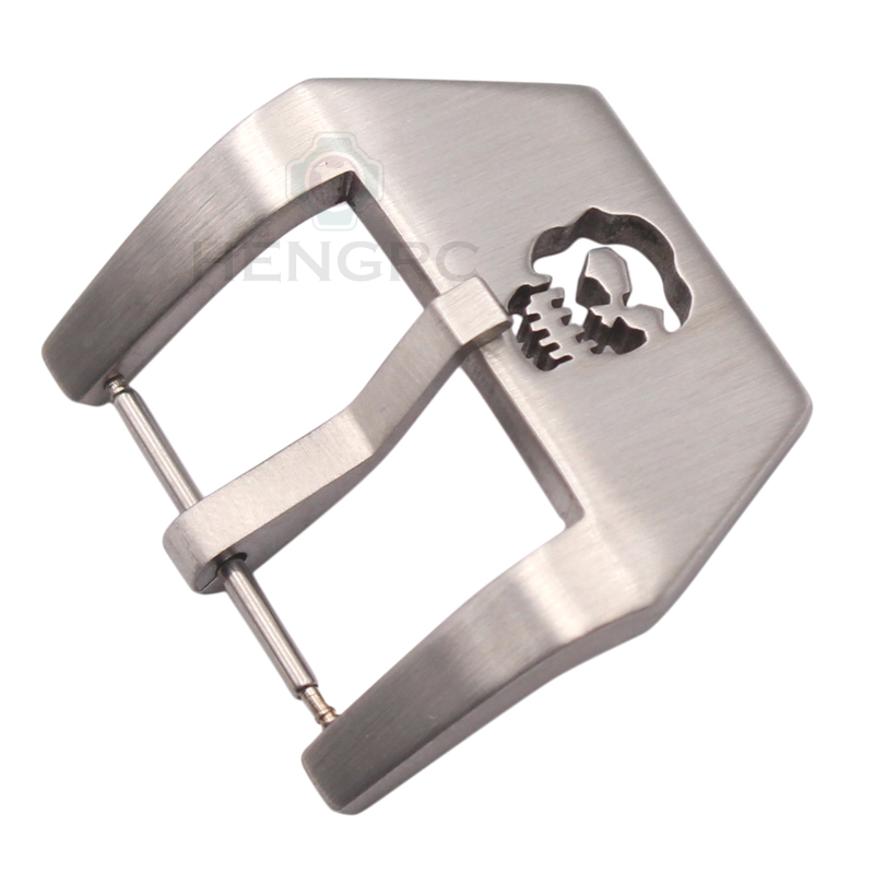 Wholesale 10pcs/Set Skull Watch Strap Clasp 20 22 24 26mm Silver Stainless Steel Watchbands Buckle Watch Accessories For PANERAI wholesale 10pcs set metal watch buckle 18 20 22 24mm men watchband strap 316l stainless steel clasp accessories
