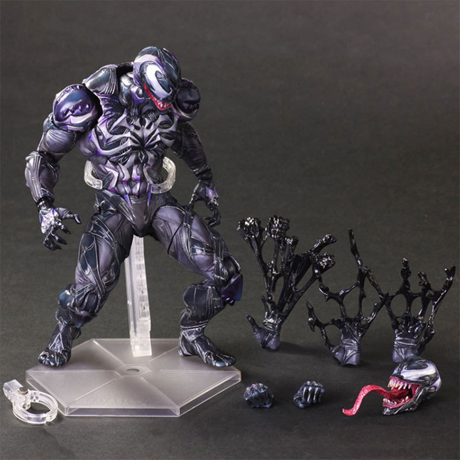 Web of Spider-Man PLAY ARTS Joint movable Venom PVC Action Figure 11 25cm Spiderman Series PA Model Toys Collection Gift wvw 18cm hot sale movie hero spider man venom play arts model pvc toy action figure decoration for collection gift