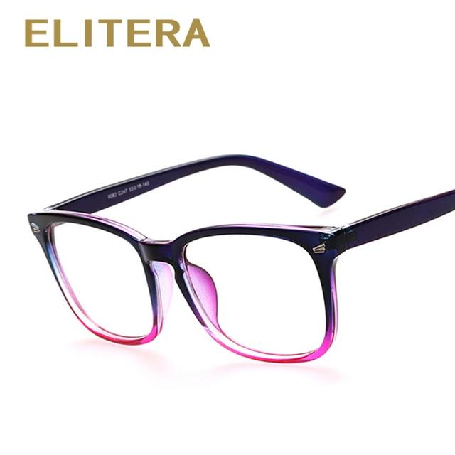 24ab2a455 ELITERA Hot Sale Da Moda Marca Óculos Armações de Óculos Para As Mulheres  Homens Miopia Óptico