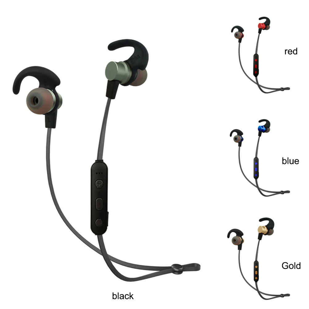 Stereo Headphones Bluetooth Wireless Sports Earphones with Mic for Phone
