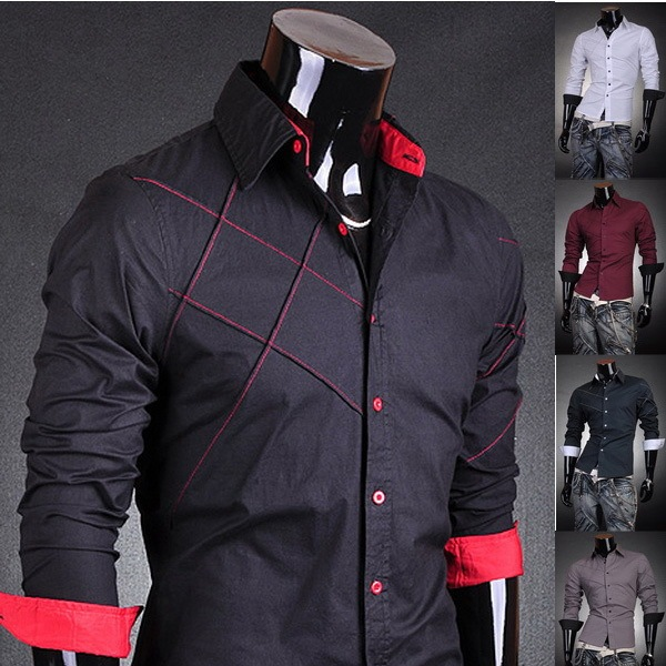 Trendy dress shirts for men online shopping-the world largest ...