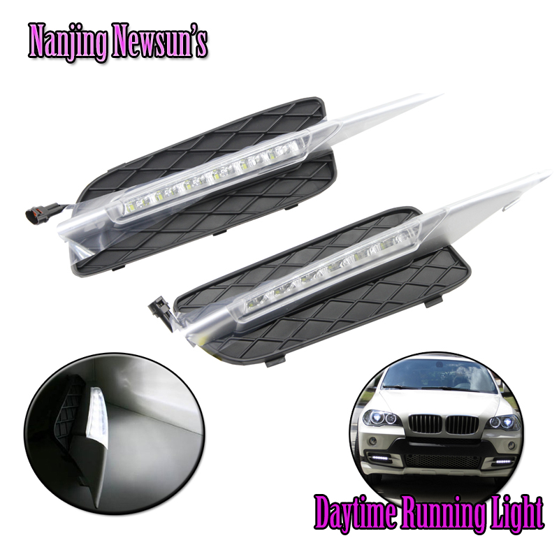 Hot-sell One Pair Led Daytime Running Lights For Bmw X5 E70 2007-2009 Led DRL/Daytime Driving Light/ Led Fog Lams Plug&play 12V