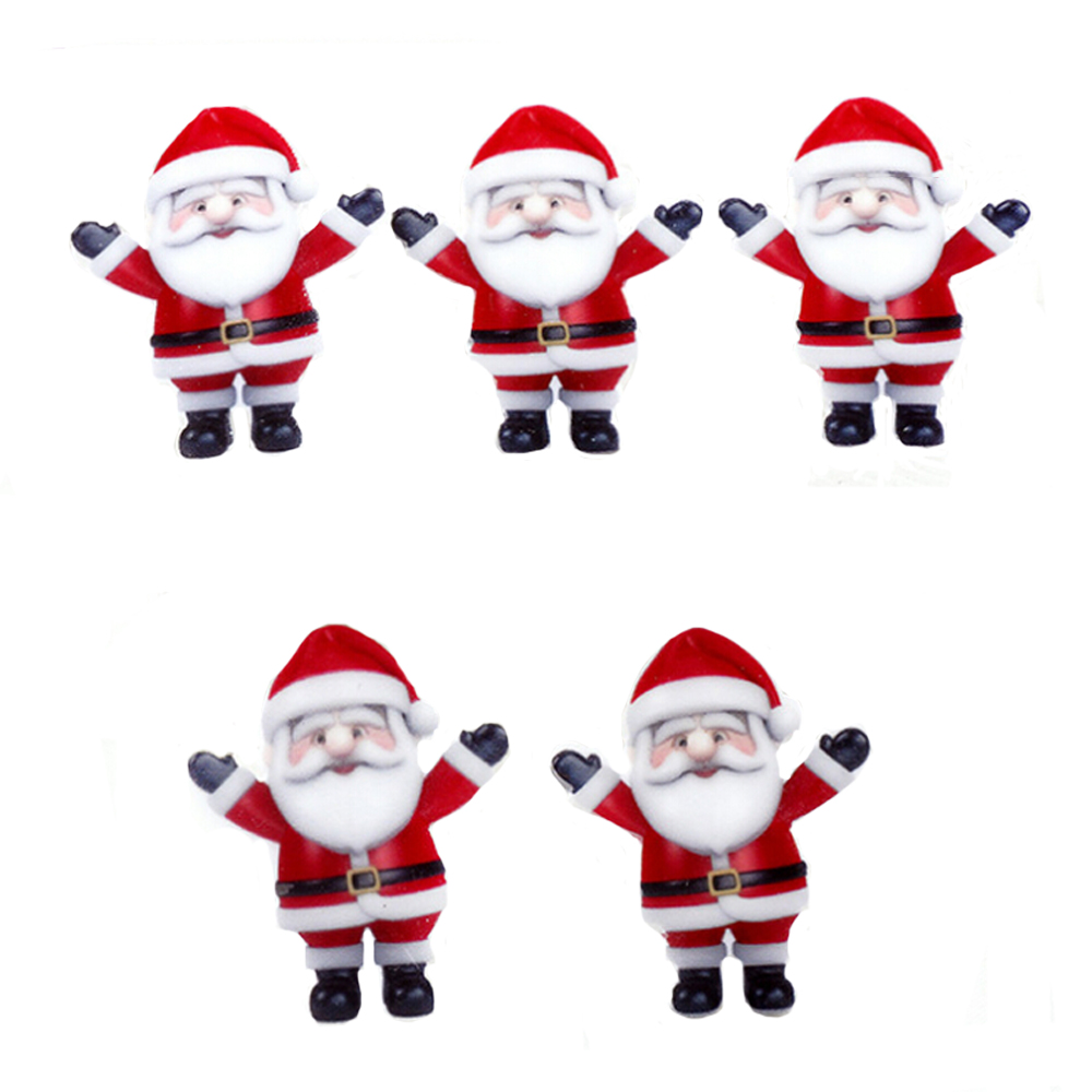 DIY Christmas Craft 36*29mm Santa Claus Flat Back Planar Resin Cabochons Little Kids Hairbow Garment Jewelry