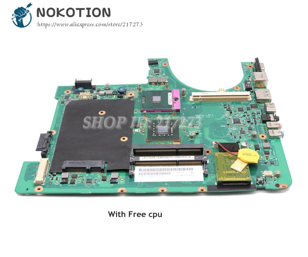 NOKOTION For Acer Aspire 6935 6935G Laptop Motherboard PM45 DDR3 MBATN0B002 MB.ATN0B.002 MAIN BOARD Free Cpu