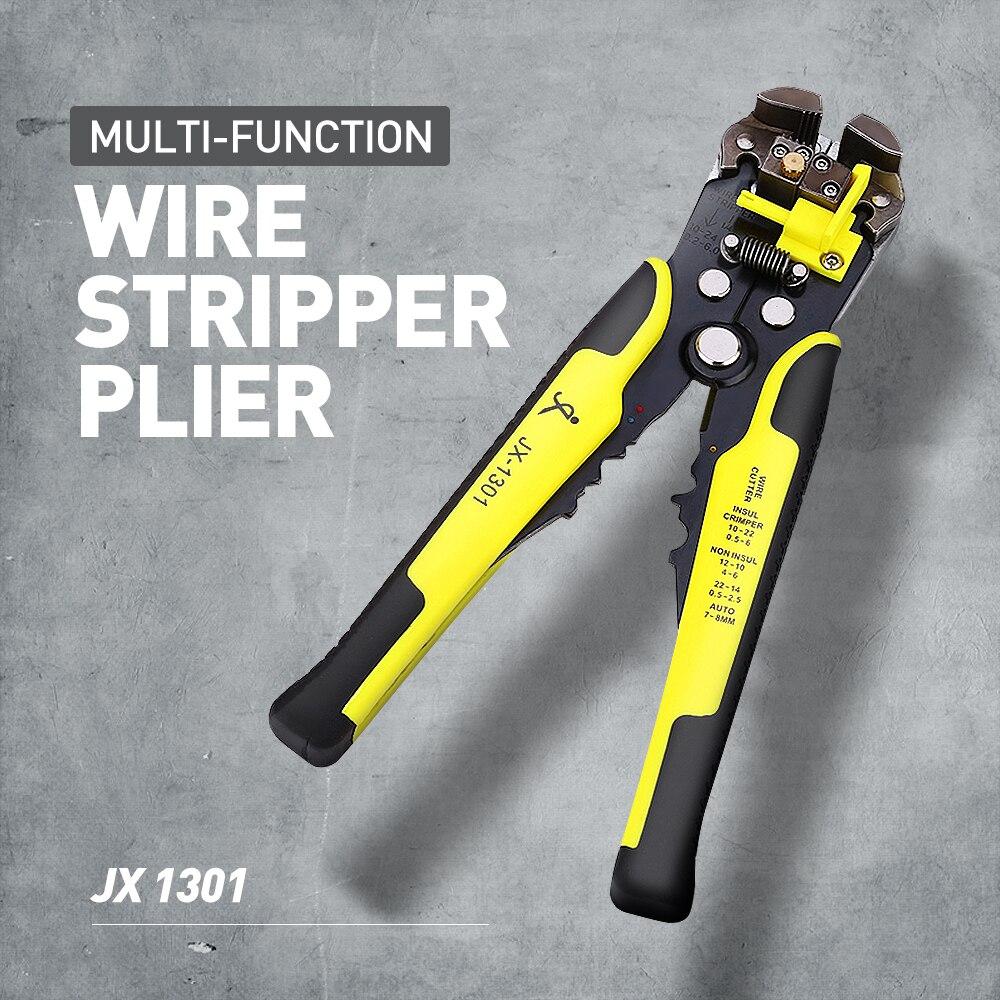 Obligatorisch Jx 1301 Ratsche Rad Speichern Aufwand Tab Terminal Crimpen Presse Zangen Werkzeug Multi-funktion Abisolierzange 8 Zoll Draht Cutter Werkzeuge