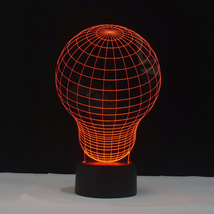Free Shipping 3D DECOR The bulb shape BULBING a Magical Lamp ...