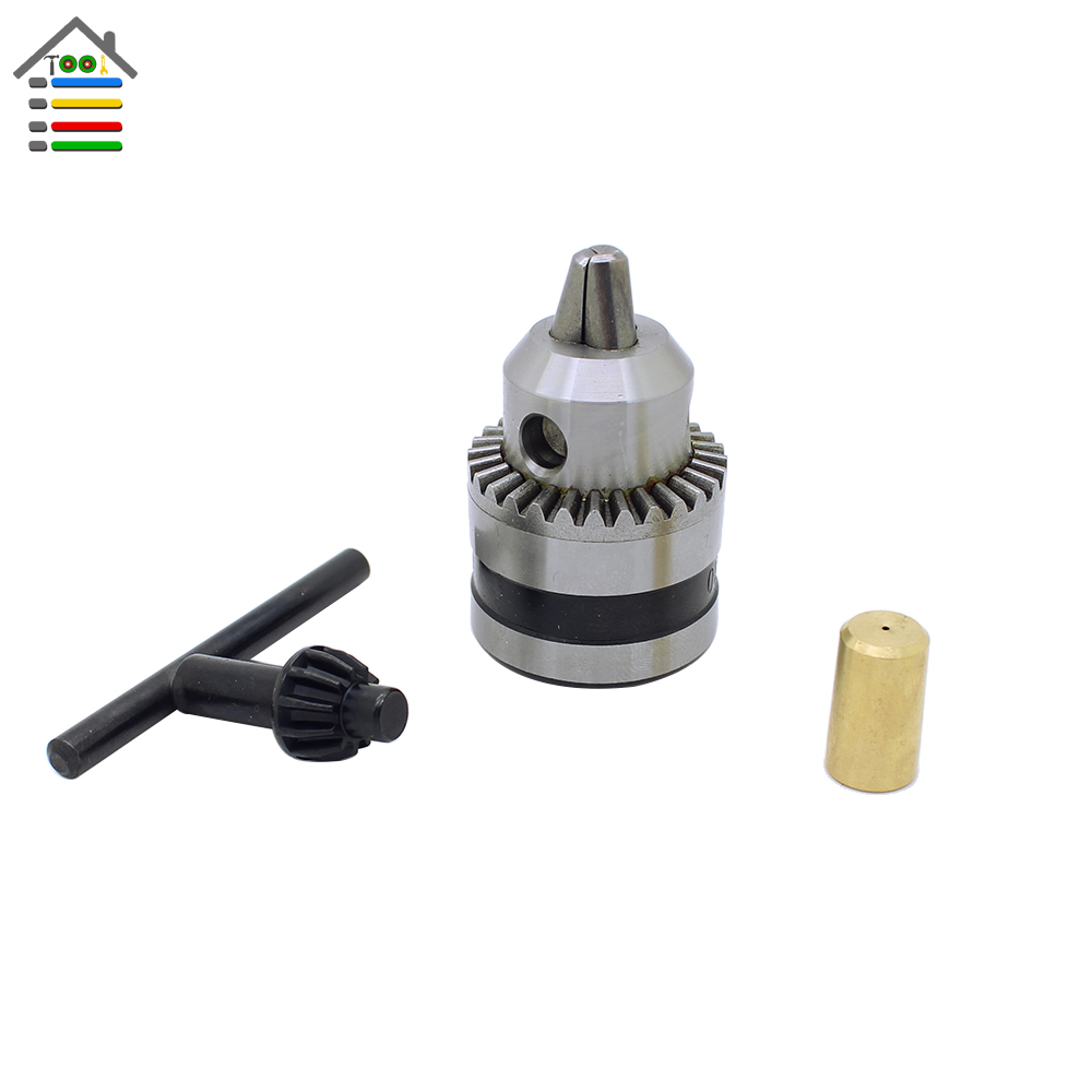 New Drill Chuck 0.6-6mm Mount B10 With 3.17mm Connect Rod Motor Shaft Key Power Tools Free shipping high quality 4 in 1 drill chuck key for drills drill presses sizes 6 9 10 13 mm universal fit new arrival