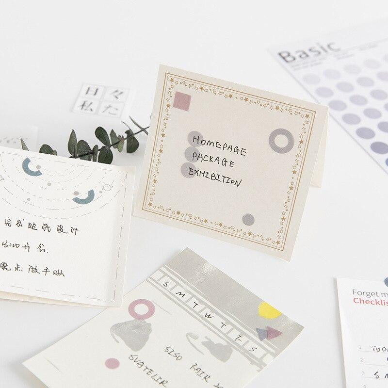 Mohamm Kawaii базовый материал Dot серия Милая наклейка на заказ s дневник стационарные хлопья скрапбук DIY декоративная наклейка s