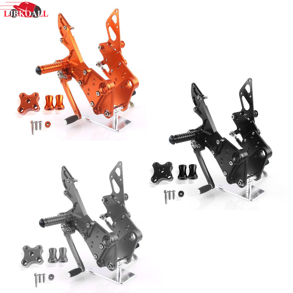 Motorcycle CNC Adjustable Rider Rear Sets Rearset Footrest Foot Rest Pegs For KTM Duke 125 200 390 2011 2012 2013 2014 2015 2016 motorcycle rear brake master cylinder reservoir cove for ktm duke 125 200 390 rc200 rc390 2012 2013 2014