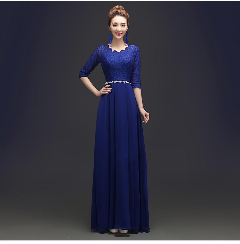 2018 Custom Made Elegant Black Winter Evening Dresses Lace Half ...