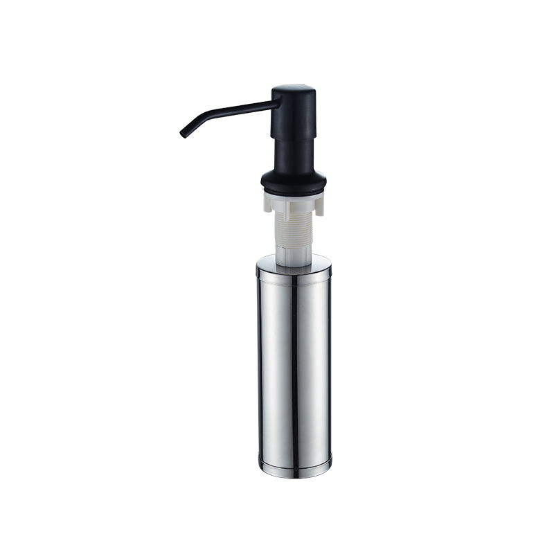 Stainless steel kitchen black plastic bottle sink detergent bottle press soap dispenser Nordic kitchen sink accessories