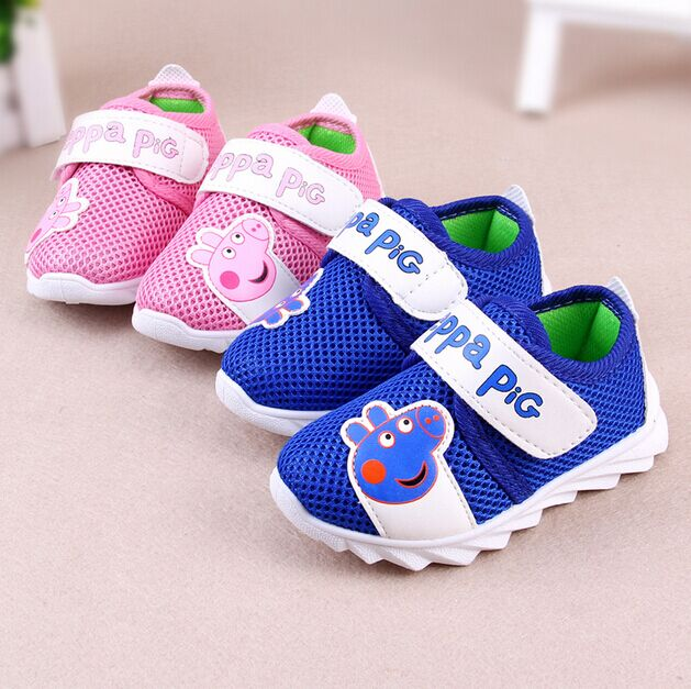 baby shoes 2016 new spring sport cartoon network breathable mesh baby girls shoes fashion kids first walkers free shipping