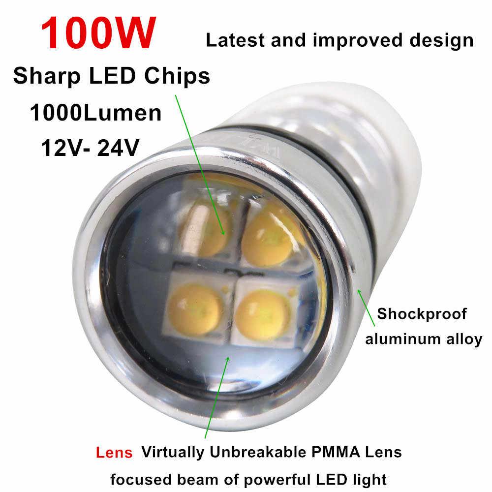 WLJH 2x H8 H11 H7 9005 9006 5202 1157 1156 7443 7440 H16 P13W PSX24W PSX26W Led Car Auto Fog Lamp Driving Light Bulb 100W 1000lm