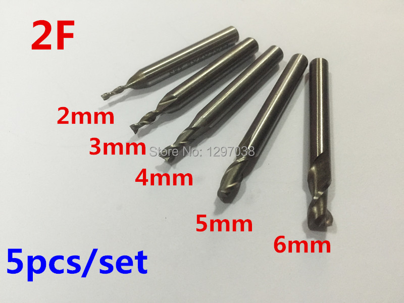 5pcs/set HSS 2 Blades Flute cutting diameter 2MM+3MM+4MM+5MM+6MM high speed steel end milling cutter end mills Cutting tools агхора 2 кундалини 4 издание роберт свобода isbn 978 5 903851 83 6