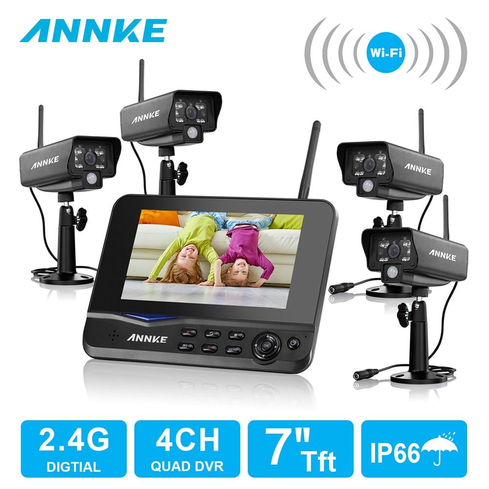 Annke 7 Quot Tft Lcd Dvr 4ch Digital Wireless Monitor 4pcs