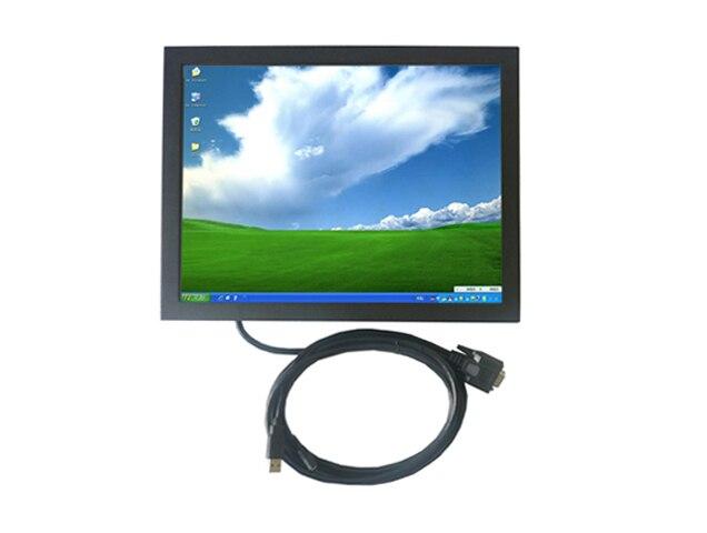 1024 X 768 разрешение 15 дюймов открытой рамки сенсорный монитор с 5 провод резистивный сенсорный для игр и киоск euipments