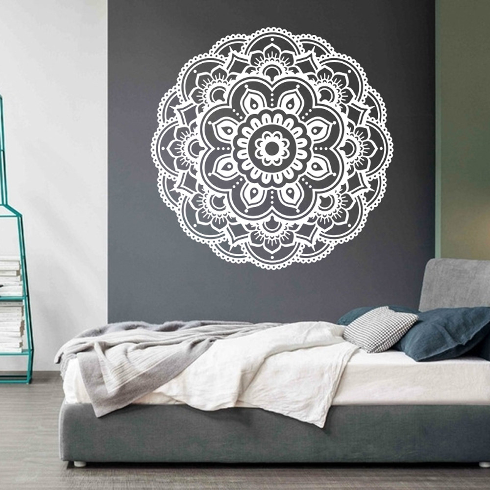 Mandala Flower Indian Bedroom Living Room Wall Stickers