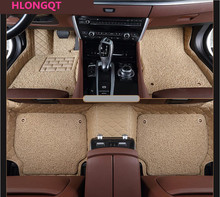 HLONGQT Auto Floor Mats For Ford Explorer 2013.2014.2015 Foot Step Mat High Quality Embroidery Leather Wire coil 2 Layer