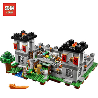 In Stock DHL Lepin Sets 18005 523Pcs Minecrafted Figures The Fortress Model Building Kit Blocks Bricks Educational Kid Toy 21127