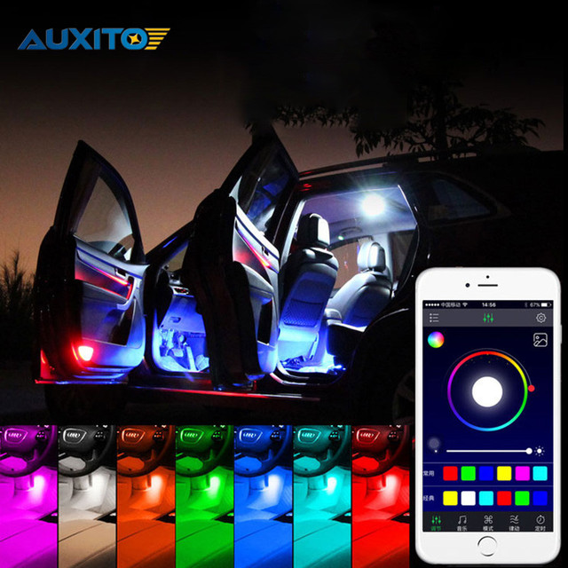 Car Interior Rgb Led Strip Light Atmosphere Decoration Lamp With