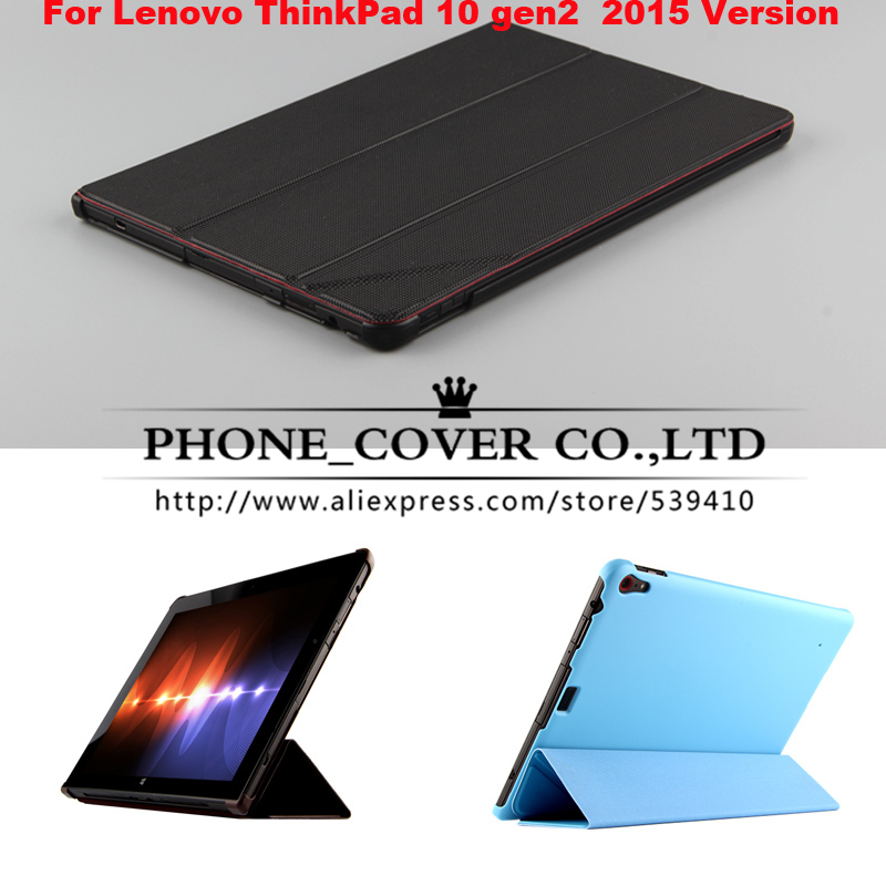 Luxury flip leather case cover For Lenovo ThinkPad 10 gen2 / gen 2 / 2rd Gen / Generation 2 10.1 2015 version Tablet cover cases free shipping new 10 1 original stand magnetic leather case cover for lenovo ibm thinkpad 10 tablet pc with sleep function