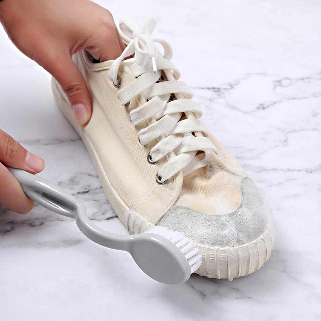 Nuttig Dubbele Hoofd reinigingsborstel Lange Plastic Handvat Schoenen Wassen Brush Cleaner borstel keuken accessoires