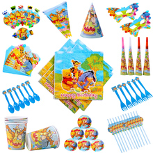 цена на Disney Winnie the Pooh Theme Baby Shower Party Disposable Party Party Decoration Party Gift Party Collection