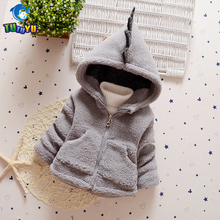 TUTUYU Baby Girls Children Boys Winter Jacket Fur Jacket Hooded Cotton Coat Girl Causal Down Coat