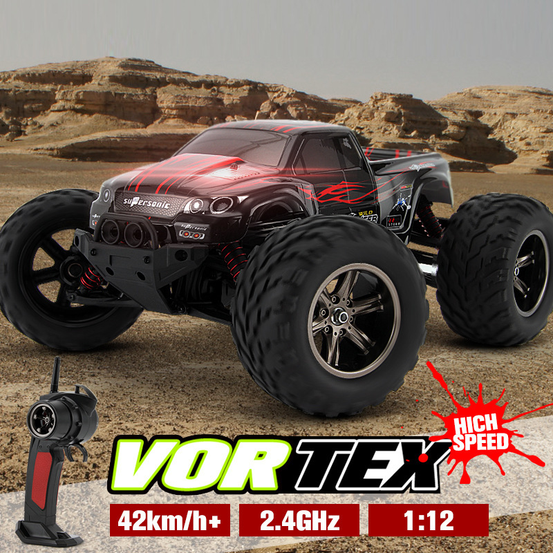 2017 Hot Sales 9115 1/12 2.4GHz 2WD Brushed RC Remote Control Monster Truck RTR Shock Resistant Bigfoot Car Off-Road Vehicle huanqi 739 high speed rc cars 1 10 scale 2 4g 2wd 42km h rechargeable remote control short truck off road car rtr vehicle toy