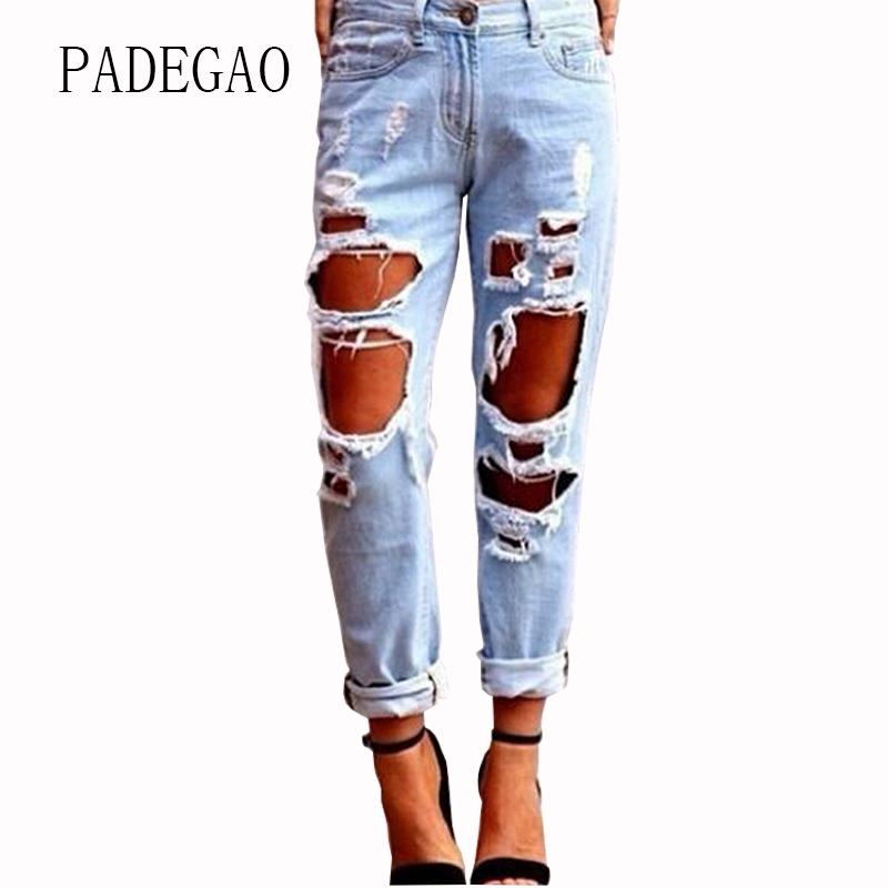 Summer Loose Mujer Push Up Jeans Womens Hole Ripped  Boyfriends For Women Woman Denim Pants Femme Feminino Female female boyfriends vintage mom jeans woman rivets high waist jeans women plus size loose jeans womens pants denim womens quality