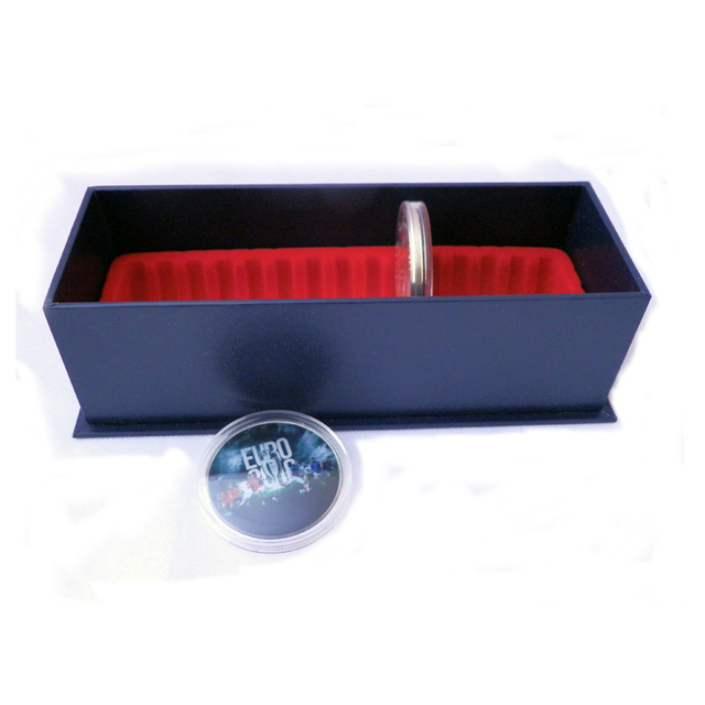PCCB Storage display Box of Round coin holder - can hold 15pcs capsules,1pcs/lot
