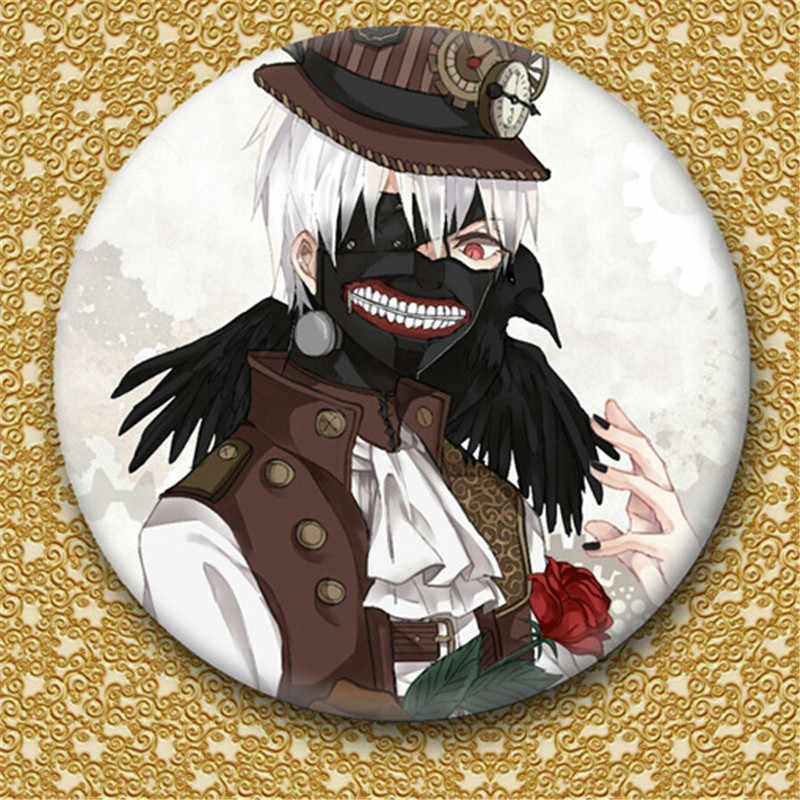 1 Pcs 50 Mm Jepang Anime Tokyo Ghoul Bros Pin Pin Cosplay Lencana Kaneki Ken Lencana Aksesoris untuk Pakaian Ransel dekorasi