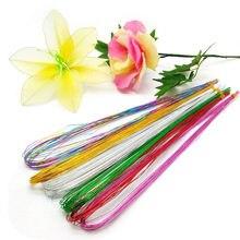 25 pces 80cm de longa estocagem fio de ferro de flor usado para diy flor de náilon que faz o acessório material floral 0.46mm da flor de ronde do fio