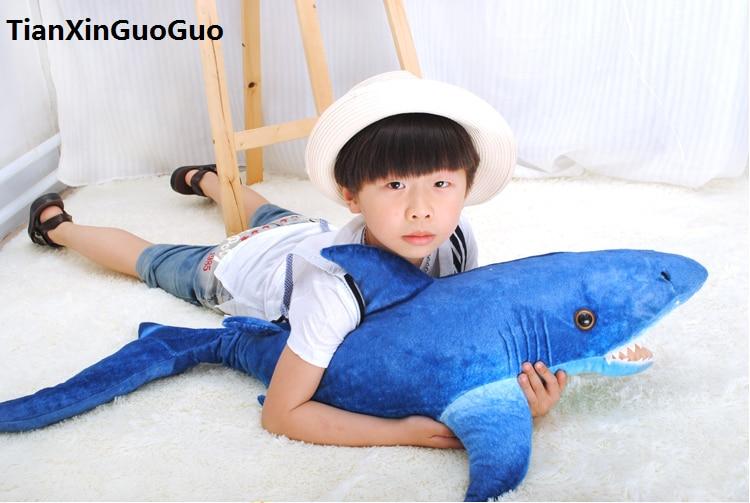 dark blue shark plush toy large 105cm cartoon shark soft doll throw pillow birthday gift h0797 dark blue doll collar pleated dress
