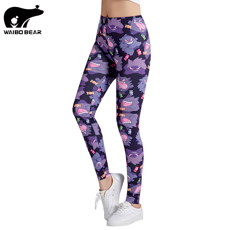 3D Printed Leggings Women Leggings Pokemon Leggins Legins Trouser Pants for women Fitness Slim Pants Sexy Trouser WAIBO BEAR