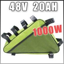 48 В 20AH Треугольники Электрический велосипед литиевая батарея 48 В 1000 Вт E велосипед литий-ионный Батарея