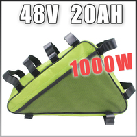 48V 20AH Triangle Electric Bicycle lithium battery Pack 48V 1000W E bike Li ion Battery
