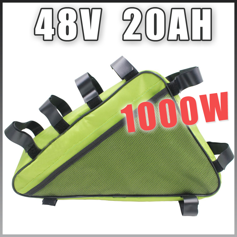 48V 20AH Triangle Electric Bicycle lithium battery Pack 48V 1000W E bike Li ion Battery electric bike battery 48v 30ah 2000w for samusng cell electric bicycle battery triangle lithium ion battery pack with 50a bms