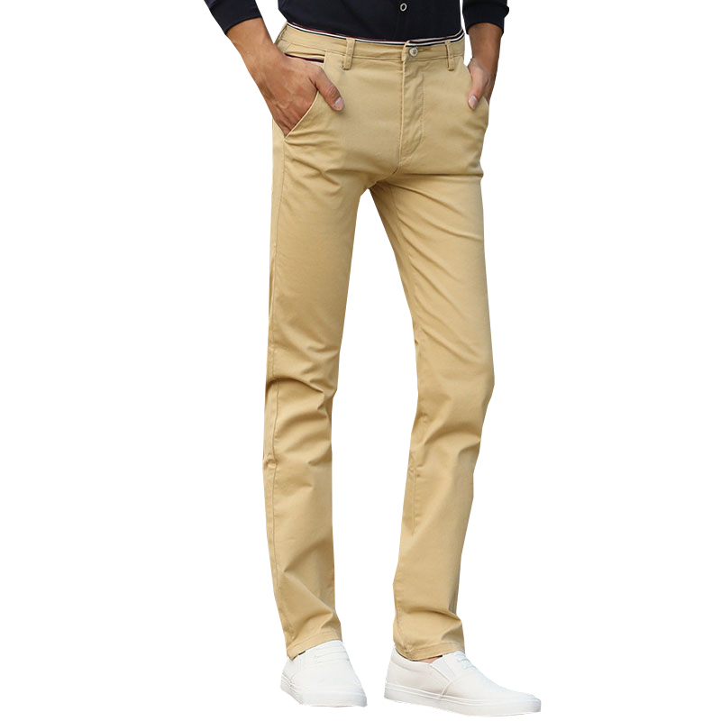 2018 New Fashion Mens Casual Pants High Quality Brand Work Pants Male Clothing Cotton Formal Trousers Men