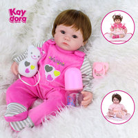 16 inch 40cm Silicone Reborn Baby Dolls Alive Lifelike Real Realistic Kids bebe Menina Girl Toys Birthday Gift