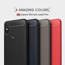 Carbon Fiber Case for Xiaomi Mi 6X / A2 Cases Silicon Soft Cover Phone Fundas