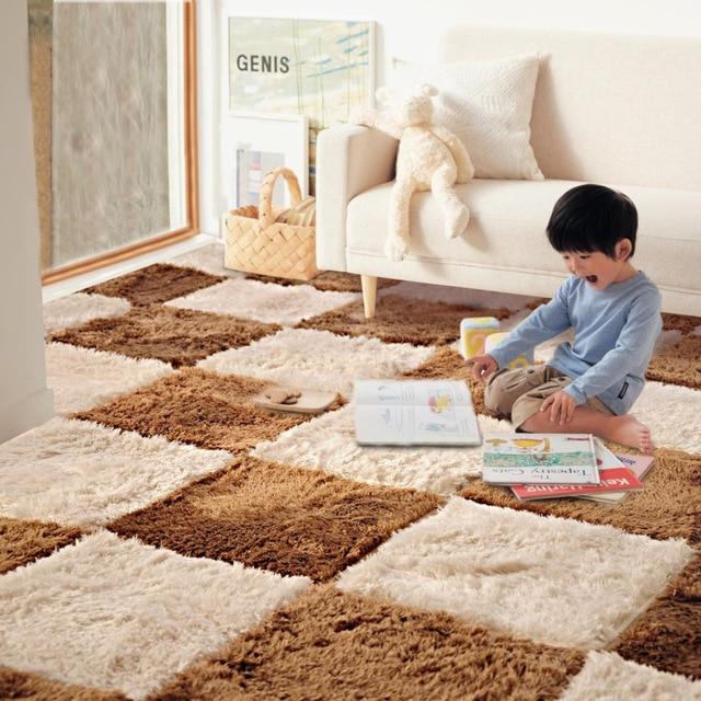 35 35cm Rugs Living Room Bedroom Children Kids Soft Patchwork Carpet Magic Jigsaw Splice Puzzle