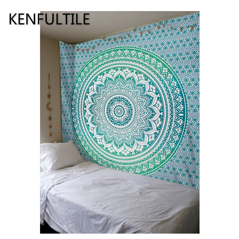 Smart Home Home Automation Modules Polyester Indian Mandala Tapestry Wall Art Hanging Carpet Beach Towels Decorative Blankets Tablecloths Home Decor Accessories