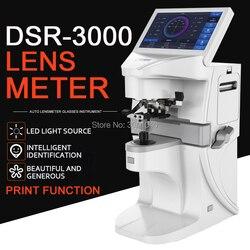 Lensmeter automático digital lensometer dsr3000optical focimeter lente medidor de 7 polegada tela sensível ao toque uv pd impressão
