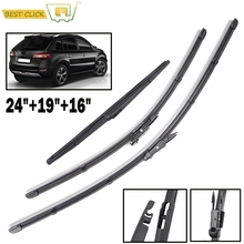 "Misima Windshield Windscreen Wiper Blades For Renault Koleos 2008 2009 2010 2011 2012 2013 2014 2015 Front Rear Window 24""19""16"""