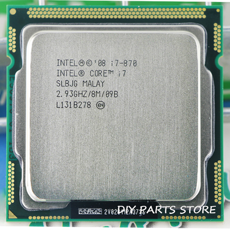 Intel Core I7 870 I7-870 I7 Processeur 2.9 GHz/8 MB Socket LGA 1156 CPU mémoire Prise En Charge: DDR3-1066, DDR3-1333